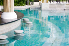 Luxury poolside Royalty Free Stock Images