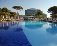 Luxury poolside, Belek, Turkey Stock Photo