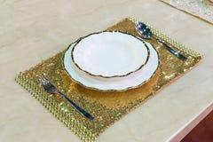 Luxury porcelain plate set Stock Images