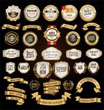 Luxury premium golden badges and labels. Collection royalty free illustration