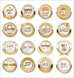 Luxury premium golden badges and labels set. Luxury premium golden badges and labels stock illustration