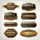 Luxury premium quality plates collection with wooden texture Royalty Free Stock Photo
