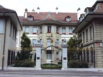 Luxury private villa in the city center of Bern. The capital of the Swiss Confederation royalty free stock image