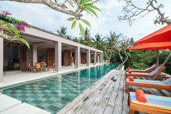 Luxury and Private villa with pool outdoor Stock Photography
