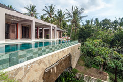 Luxury and Private villa with pool outdoor Stock Images
