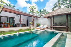 Luxury and Private villa with pool outdoor Stock Photos