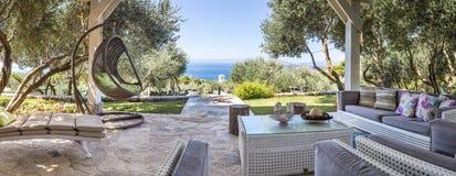 Free Luxury Private Villa Terrace Stock Photo - 129940080