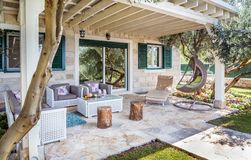 Free Luxury Private Villa Terrace Stock Photos - 129940283