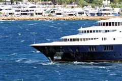 Luxury private yacht Stock Image