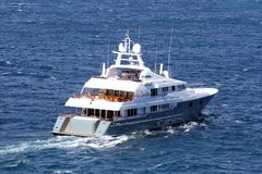Luxury private yacht Stock Photos