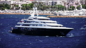 Luxury private yacht stock footage
