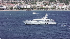 Luxury private yacht stock video footage