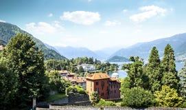 Luxury properties at Como Lake Stock Photos