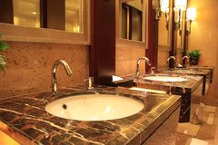 Luxury public restroom Royalty Free Stock Images