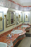 Luxury public restroom Stock Images