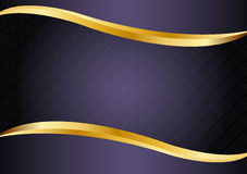 Luxury purple with gold lines background vector design. Stock Images