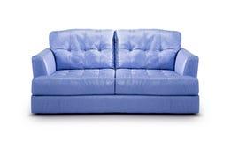 Luxury purple leather sofa Stock Image