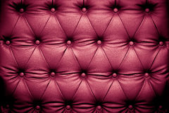 Luxury purple leather texture with buttoned pattern Royalty Free Stock Photos