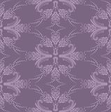 Luxury purple seamless floral wallpaper Stock Images