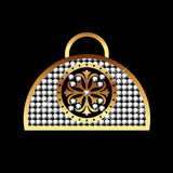 Luxury purse. In gold and diamonds Royalty Free Stock Photo
