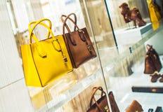 Luxury Purses Shopping Stock Images