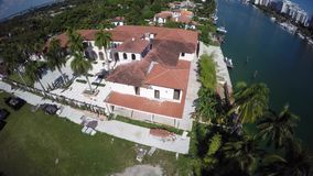 Luxury real estate construction aerial video