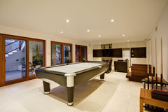 Luxury Recreation Room. A recreation room in a luxury home Stock Photos