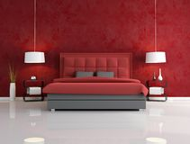 Luxury red bedroom Royalty Free Stock Photos