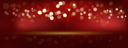 A luxury red bokeh  image for Abstract background. Luxury red bokeh  image for Abstract background stock illustration