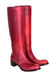 Luxury red boots Royalty Free Stock Image