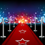 Luxury Red Carpet Stock Photo