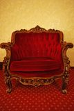 Luxury red chair Royalty Free Stock Photos