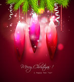 Luxury red Christmas background Royalty Free Stock Photo