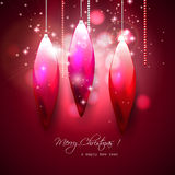 Luxury red Christmas background Royalty Free Stock Image