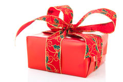 Luxury red Christmas present Stock Photo
