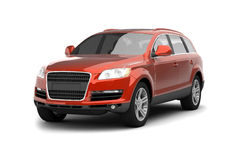 Luxury Red Crossover SUV Stock Images
