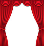 Luxury red curtain on white background Royalty Free Stock Photo
