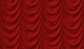Luxury Red Drapes. Red Drapes Commonly Found in Theatres Royalty Free Stock Images