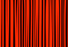 Luxury red drapes curtain with many shadow.  stock illustration