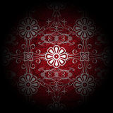 Luxury Red Floral Stock Photography