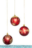 Luxury red with gold Christmas ball, hanging Decoration Royalty Free Stock Photography