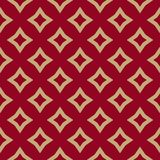 Luxury red and gold vector geometric seamless pattern with rhombuses, diamonds stock illustration