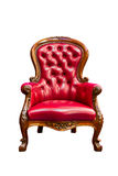 Luxury red leather armchair isolated Royalty Free Stock Images
