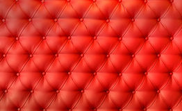 Luxury red leather cushion close-up background Royalty Free Stock Photo