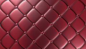 Luxury Red Leather Furniture Wallpaper Illustration Royalty Free Stock Image