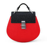 Luxury Red Leather Women Bag. 3d Rendering Royalty Free Stock Image