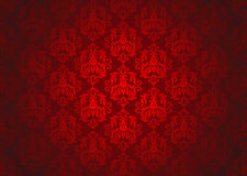 Luxury Red Ornamental Pattern Royalty Free Stock Photo