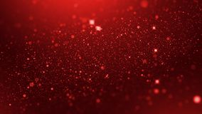 Luxury red particle glitter abstract background for happy new year and merry christmas festive season middle light ray
