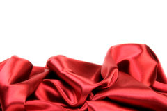 Luxury red satin Royalty Free Stock Images