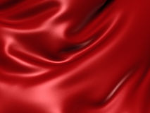 Luxury red satin cloth abstract background. 3d render illustration Royalty Free Stock Image